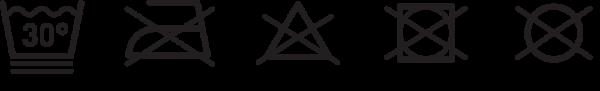 plus12socks Merion Pflegeanleitung Symbole und Text