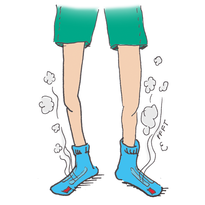 Illustration of steaming feet
